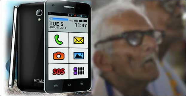 Mitashi PLAY Senior Friend  seems to be the lonely Android phone around for Senior citizens