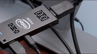 Intel Compute Stick STCK1A32WFC uses hdmi to convert your TV into a windows pc