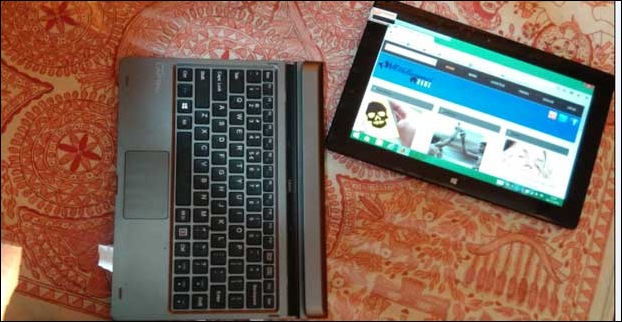 The most attractive feature is it can be converted into a detachable tablet or docked over keyboard as a laptop netbook