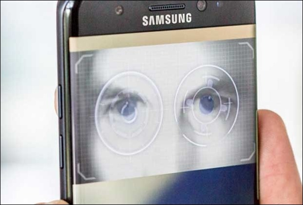 While Galaxy S8 is equipped with an Iris Scanner , to counter , there is only fingerprint scanner in the current version of IPhone