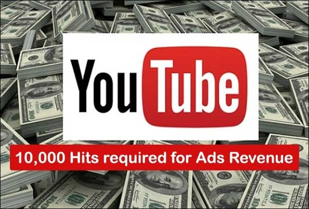 You Tube Income Seekers now have to generate atleast 10K hits before they get ads from Google